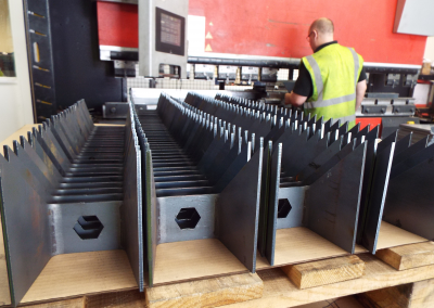 Batch of formed mild steel profiles