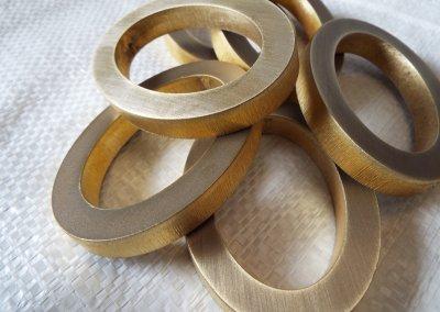Laser Cut Brass Hoops